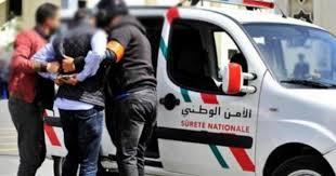صورة أمن طانطان يوقف شخصين بحوزتهم اعيرة نارية